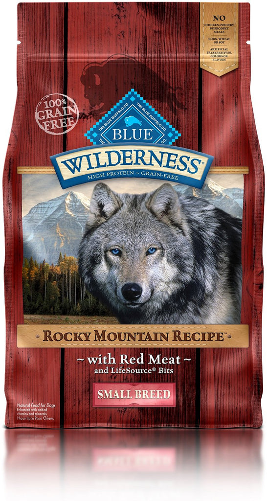BLUE BUFFALO DOG WILDERNESS ROCKY MOUNTAIN RECIPE WITH RED MEAT SMALL BREED 4LBS