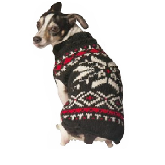 CHILLY DOG SWEATER SNOWFLAKE LARGE