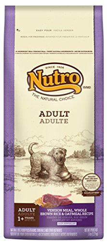 NUTRO NATURAL CHOICE DOG VENISON MEAL, WHOLE BROWN RICE & OATMEAL 5LBS