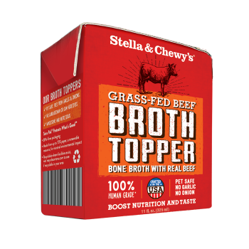 STELLA & CHEWY'S BROTH GRASS-FED BEEF DOG FOOD TOPPER, 11OZ