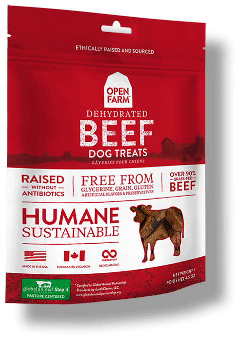 Open Farm Dehydrated Beef Dog Treats 4.5oz