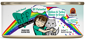 B.F.F. OMG QT Patootie! Chicken & Turkey Dinner in Gravy 2.8oz.