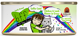 B.F.F. OMG Cat Selfie Cam! Chicken & Lamb Dinner in Gravy 2.8oz