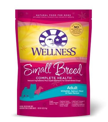 WELLNESS DOG SMALL BREED WHITEFISH, SALMON MEAL & PEAS 12LBS