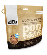 ACANA DOG TREATS DUCK & PEAR 3.25OZ