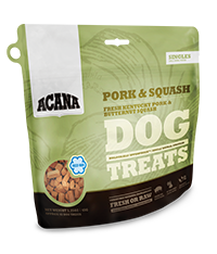 ACANA DOG TREATS PORK & SQUASH 3.25OZ