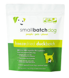 SMALLBATCH FREEZE DRIED DUCK BATCH SLIDERS, DOG 14OZ