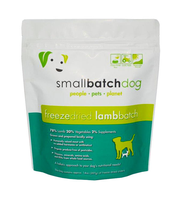 SMALLBATCH FREEZE DRIED LAMB BATCH SLIDERS, DOG 14OZ