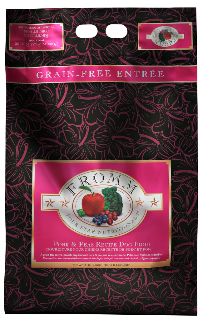 Fromm Four-Star Pork & Peas Recipe, Dog Food, 12lbs