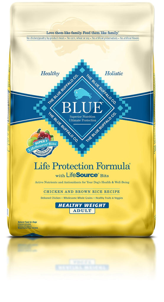 BLUE BUFFALO DOG HEALTHY WEIGHT CHICKEN & BROWN RICE 30LBS