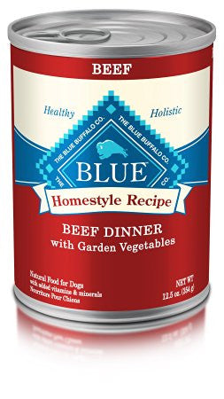 BLUE BUFFALO DOG HOMESTYLE RECIPE BEEF DINNER 12.5OZ