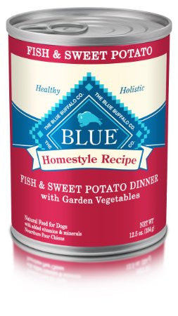 BLUE BUFFALO DOG HOMESTYLE RECIPE FISH & SWEET POTATO DINNER 12.5OZ