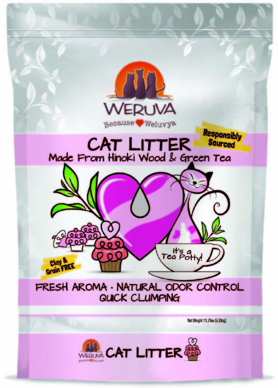 WERUVA GREEN TEA CAT LITTER 11.7LBS