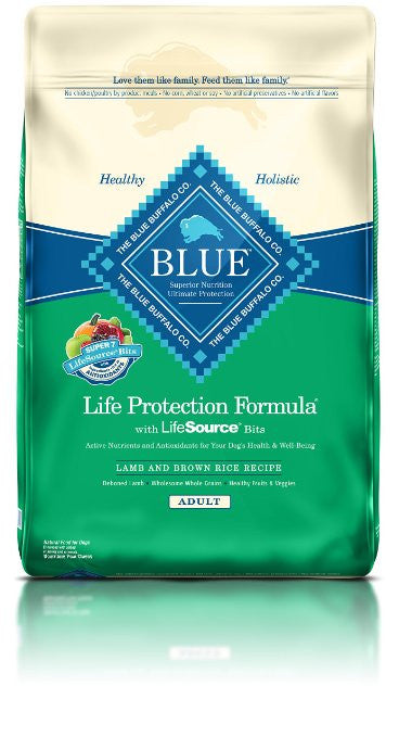 BLUE BUFFALO DOG LAMB & BROWN RICE 30LBS