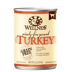 WELLNESS DOG GRAIN FREE 95% TURKEY 13.2OZ