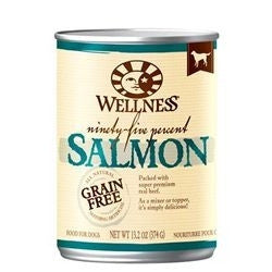 WELLNESS DOG GRAIN FREE 95% SALMON 13.2OZ