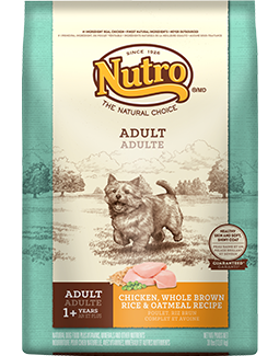 NUTRO NATURAL CHOICE DOG CHICKEN, WHOLE BROWN RICE & OATMEAL RECIPE 5LBS