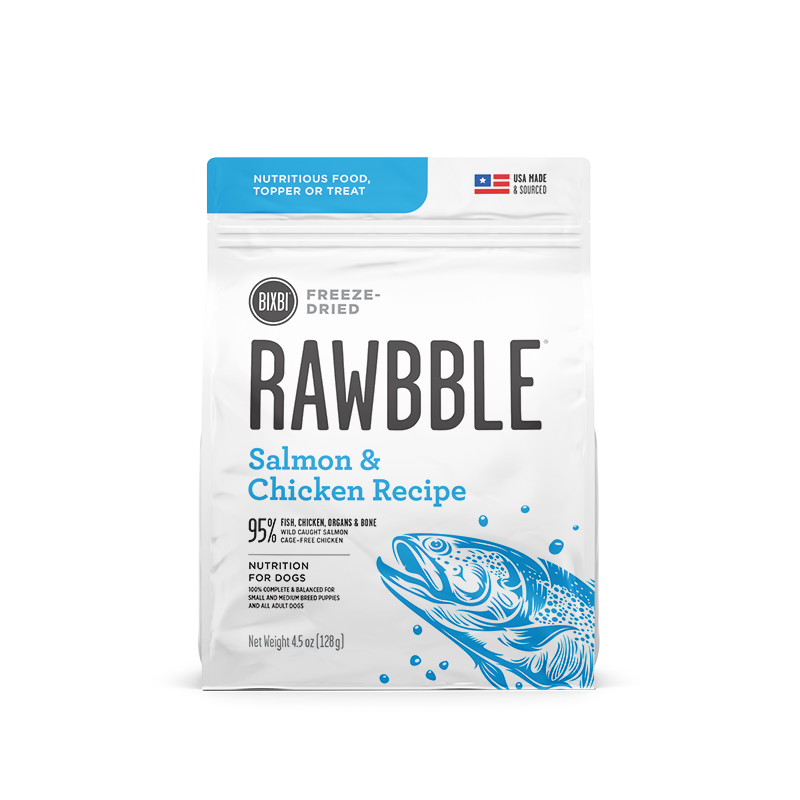 BIXBI RAWBBLE DOG DRIED SALMON & CHICKEN 4.5OZ