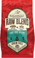 STELLA & CHEWY'S RAW BLEND CAGE-FREE, DOG RECIPE, 22LBS