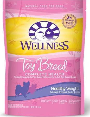 WELLNESS DOG TOY BREED HEALTHY WEIGHT CHICKEN & BARLEY 4LBS