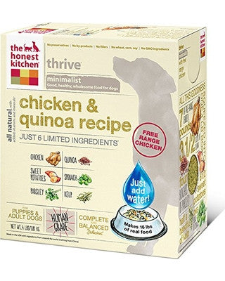 THE HONEST KITCHEN THRIVE CHICKEN & QUINOA 4LBS