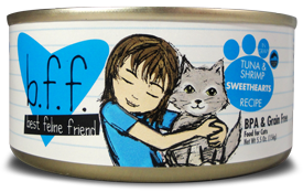 B.F.F. Cat Tuna & Shrimp Sweethearts Recipe (in Gravy) 3oz
