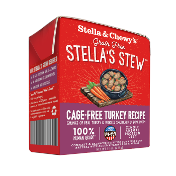 STELLA & CHEWY'S STEW CAGE-FREE TURKEY, DOG RECIPE, 11OZ