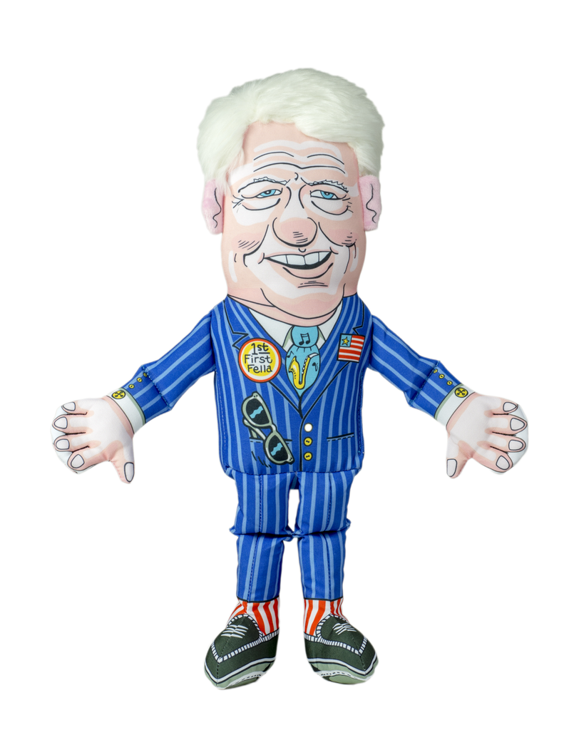 FUZZU MR. PRESIDENT BILL CLINTON DOG TOY