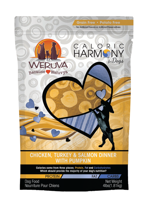 WERUVA DOG CALORIC HARMONY CHICKEN, TURKEY & SALMON DINNER 4LBS