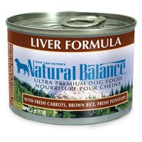 NATURAL BALANCE DOG LIVER & RICE 6OZ