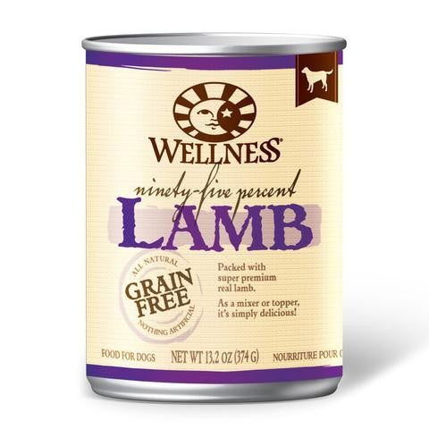 WELLNESS DOG GRAIN FREE 95% LAMB 13.2OZ