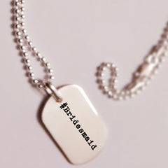 Custom dog tag necklace | Ladi Lyke