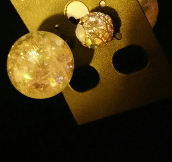My Crystal Balls, Double Sided Peakaboo Earrings
