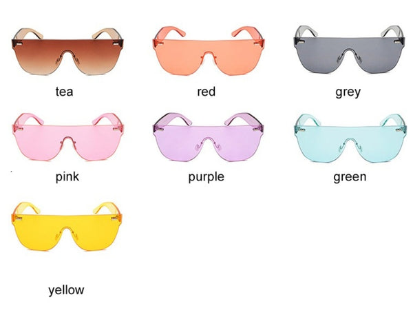 Just like Candy, Hipnotic Colors Fashion Sunglasses - Almost Red