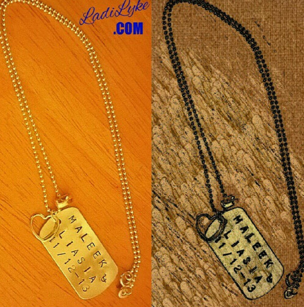 Personalized Dog Tag Necklace | Ladi Lyke