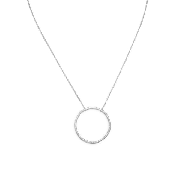 "16"" Textured Circle Necklace"