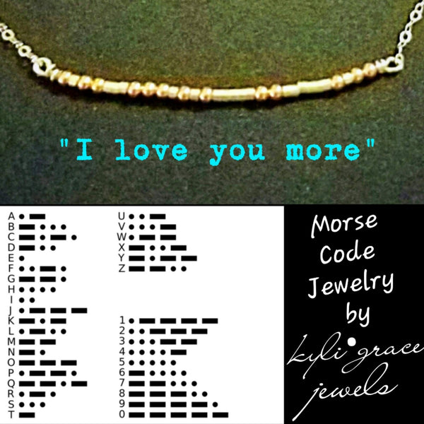 Sterling Silver and Rose Gold Morse Code Necklace