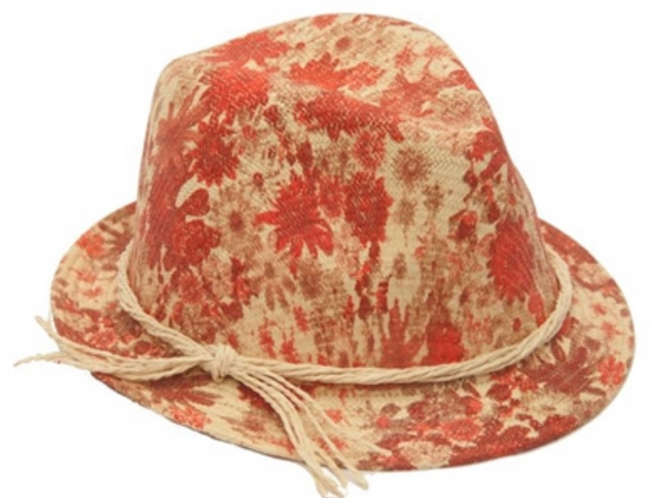 Keeping Up, Watercolor Flower Fedora