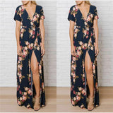 Floral Print Kimono Dress - A Full Basket