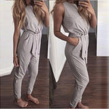 Casual Gray Long Jumpsuit - A Full Basket