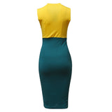 Sleeveless Cocktail Pencil Dress - A Full Basket