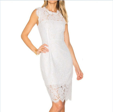 Lace Business Casual Dress - A Full Basket