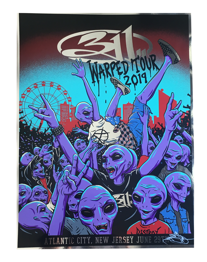 Warped Tour Poster 2019 - FOIL
