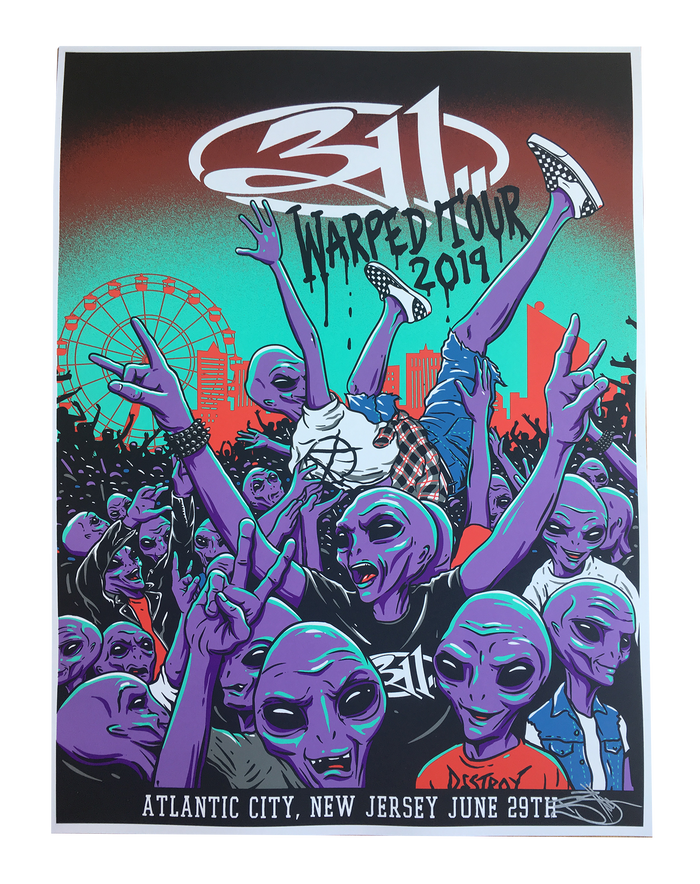 Warped Tour Poster 2019