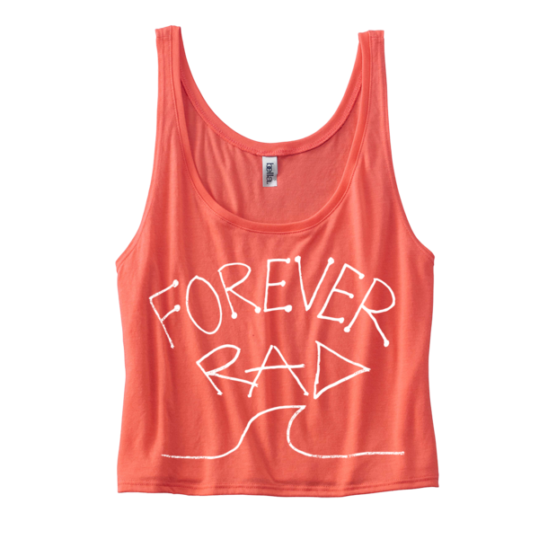"Radical Something ""Forever Rad Crop Top - Coral"""