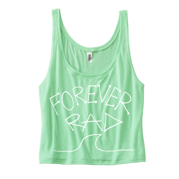 "Radical Something ""Forever Rad Crop Top - Mint"""