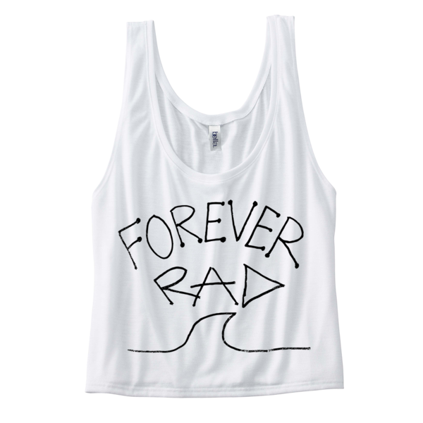 "Radical Something ""Forever Rad Crop Top - White"""