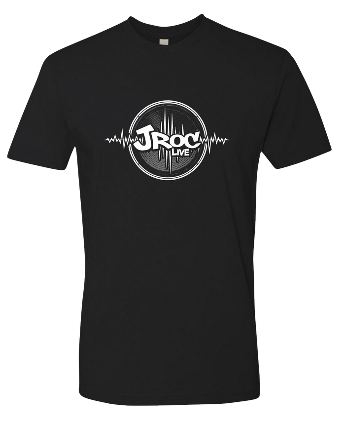 JROC LIVE MENS BLACK AND WHITE TEE