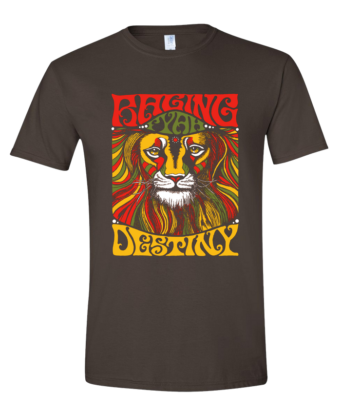 Raging Fyah - Lion Tee (Dark Chocolate)