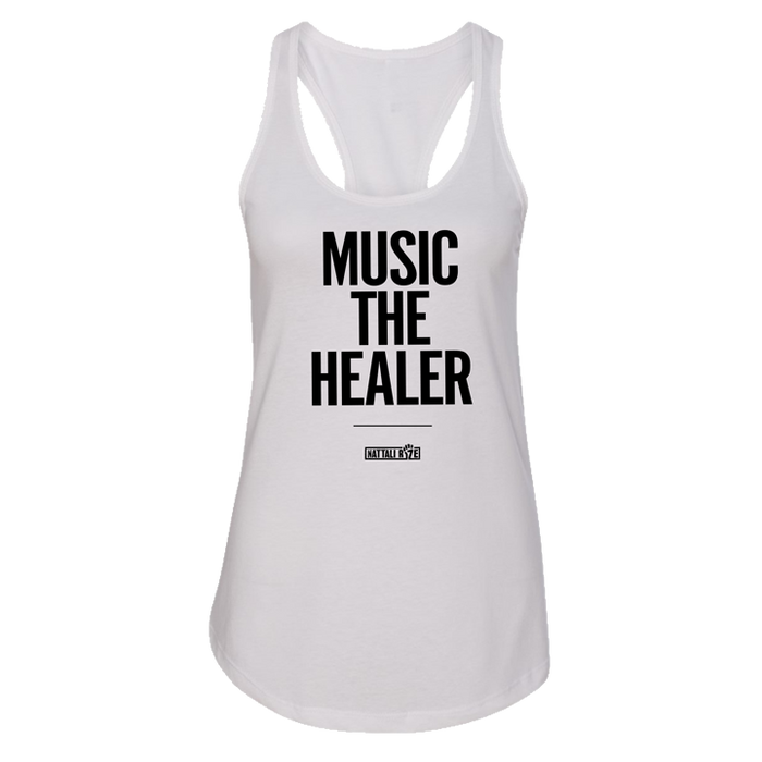 Womens Music The Healer Tank White